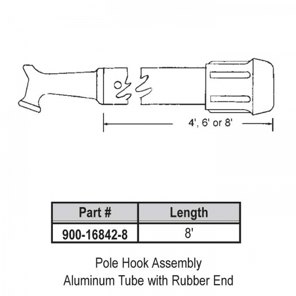 8ft Pole Hook Assembly 900-16842-8 1