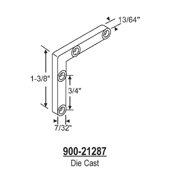 Corner Key-Die Cast  900-21287 1