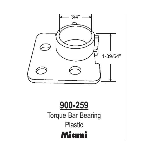 Miami Torque Bar Bearing 900-259 1