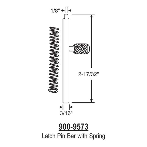 Latch Pin Bar 900-9573 1