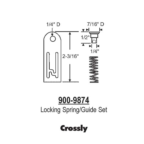 Crossly Locking Spring-Guide 900-9874 1