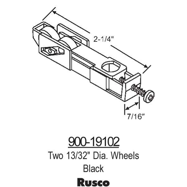 Rusco Sliding Window Rollers 900 19102 900 19102