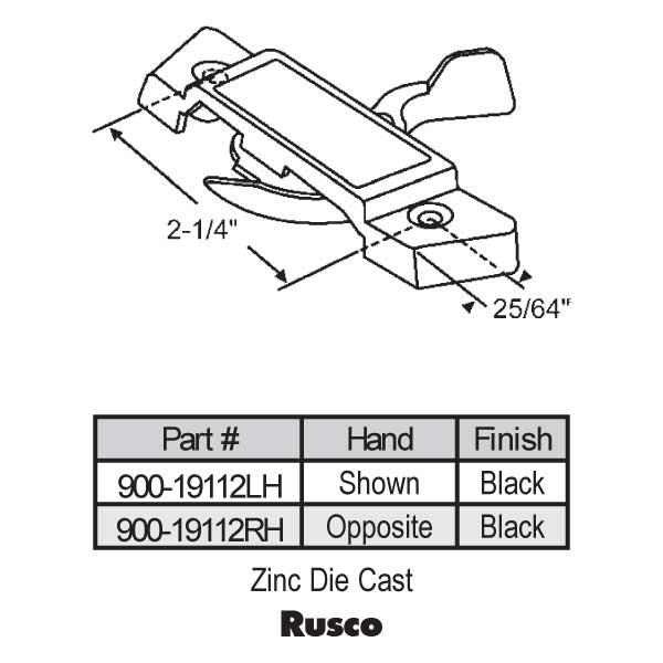Rusco Window Door Parts