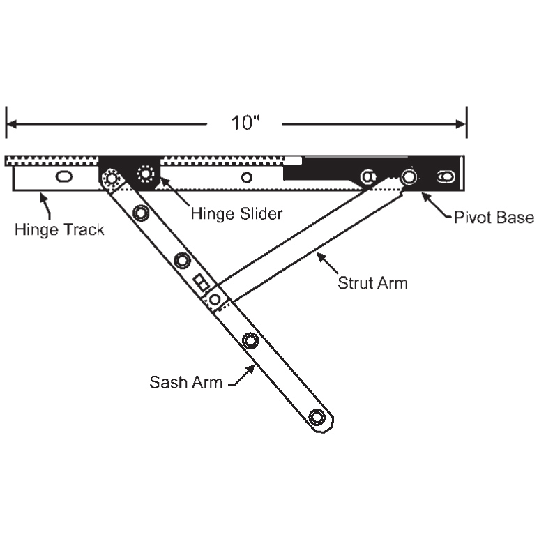 Roto 10inch Casement Hinge Arm 28 15 72