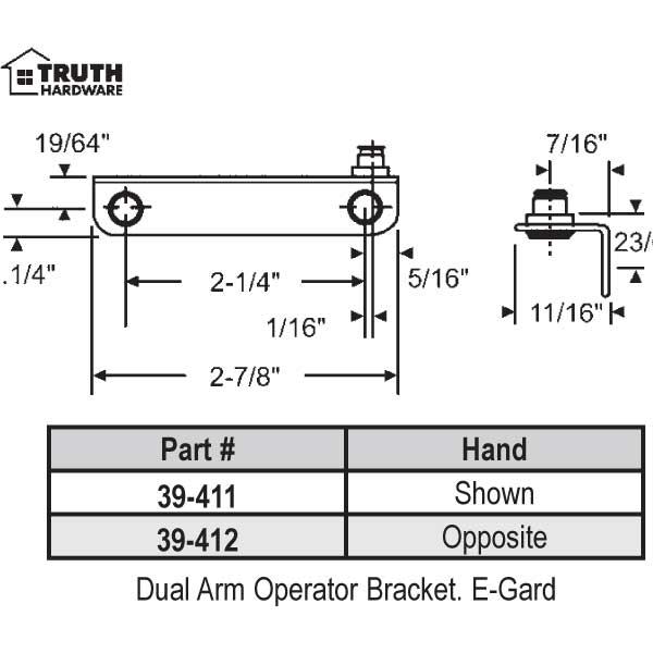 Window Door Parts Casement And Awning Operator Bra